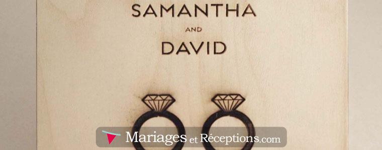 Faire part de mariage en bois : attention aux frais d'envoi !