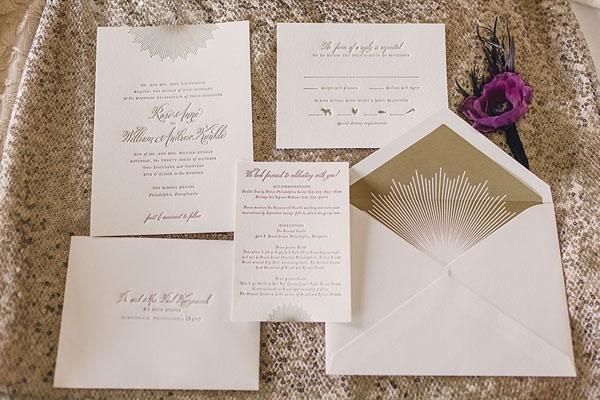 Un ensemble faire-part, invitations et cartes de remerciements du plus bel effet