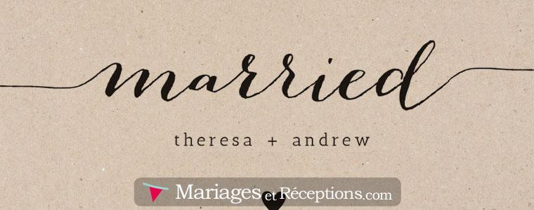 Faire-part de mariage, invitations et cartes de remerciement