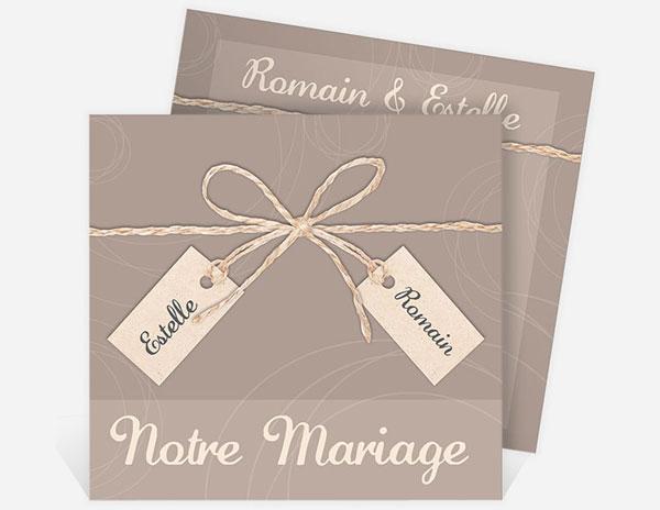 Faire-part mariage : sobres, traditionnels, originaux ou décalés, libre à vous de créer un faire part qui vous ressemble