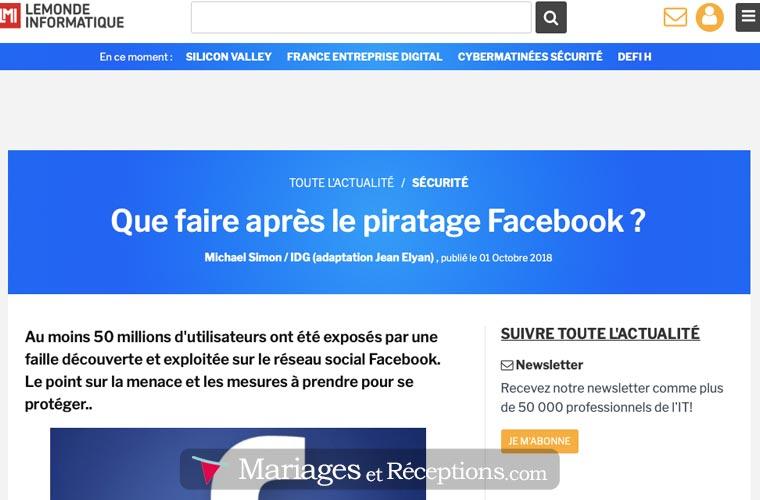 Facebook : le site le plus piraté du monde...